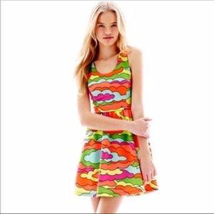L'Amour Neon Cloud  Mini Dress Nanette Lepore M